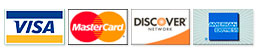 Visa, MasterCard, Discover, American Express