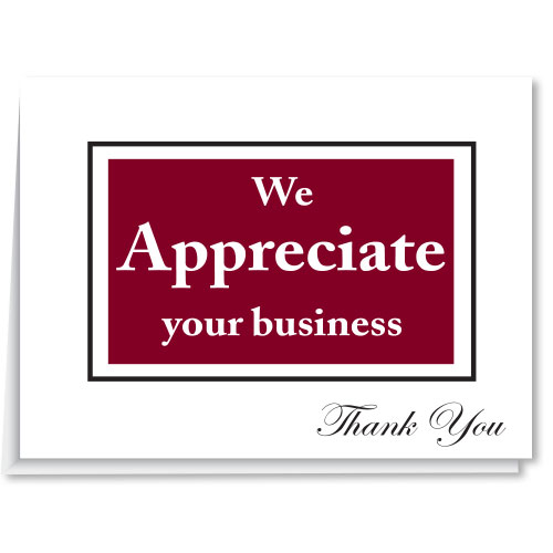 We Appreciate Your Business Thank You Card