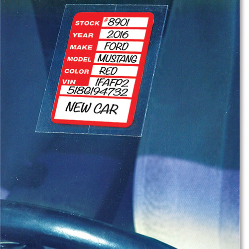 Clear-Back Stock Sticker Tickets