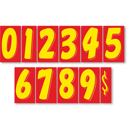 Red Amp Yellow Windshield Number Kit Peel Amp Stick Number
