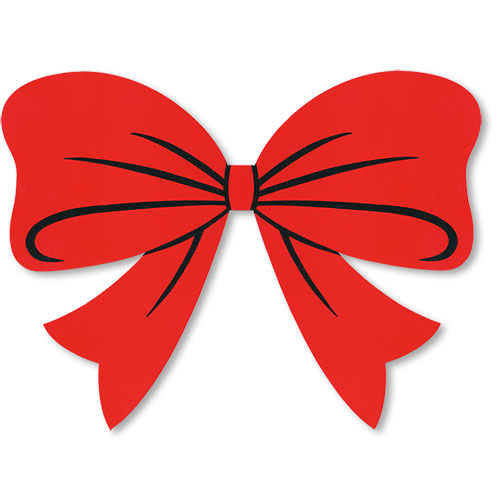 Holiday Bow Decal Red Bow Adhesive Windshield Sticker