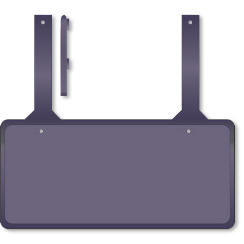 Rubber License Plate Holders