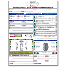 Custom Imprinted Universal Vehicle Inspection Forms