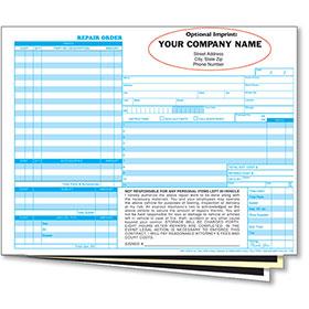 Custom Imprinted Service Repair Orders