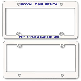 1 Inch Panel - One Color License Plate Frames