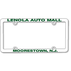 1/2 Inch Panel - One Color License Plate Frames
