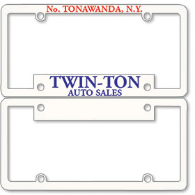 1 1/2 Inch Panel - Two Color License Plate Frames