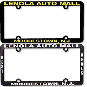 1/2 Inch Panel - Two Color License Plate Frames