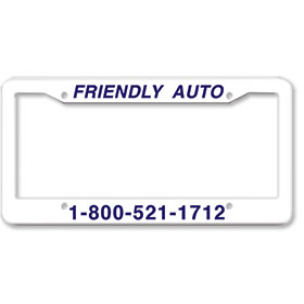 1 Inch Panel - One Color License Plate Frames - Style 1