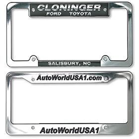 Custom Imprinted Chrome Plated Plastic License Plate Frames
