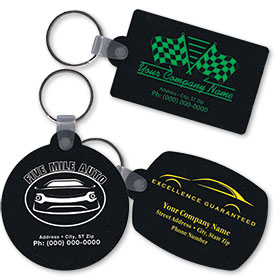 Imprinted Recycled Tire Key Rings