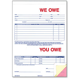 We Owe - You Owe Forms