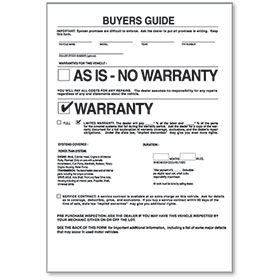 2-Part Manufacturer's Warranty Buyers Guides
