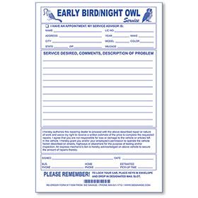 Early Bird Envelopes