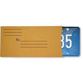 Preprinted License Plate Envelopes