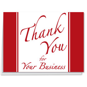 Thank You for your Business Thank You Cards
