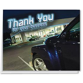 Car Lot Premium Thank You Card