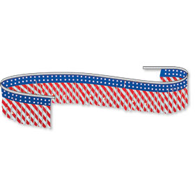 Stars and Stripes Metallic Pennant