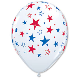 16 Inch Red and Blue Star Balloons