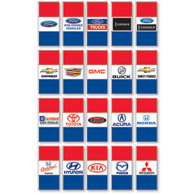 Double Sided Large Authorized Dealer Flags