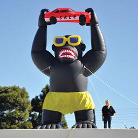 20 Foot Inflatable Gorilla Kit