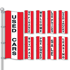 Red, White & Red Bright Drape Flags