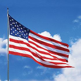 3 x 5 foot Printed American Flag