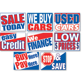 Dealer Curb Display Sign