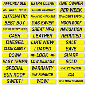 Black and Yellow Brilliant Windshield Slogans