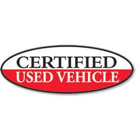 Certified Used Vehicle Oval Stickers