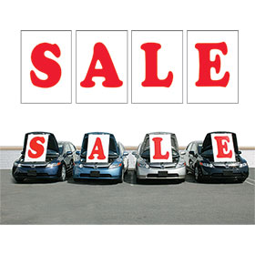 Red SALE Under the Hood Sign