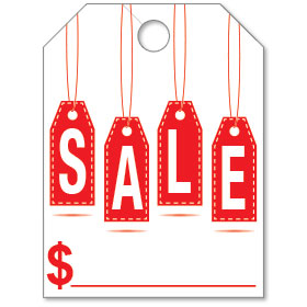 SALE Hang Tag Mirror Tags