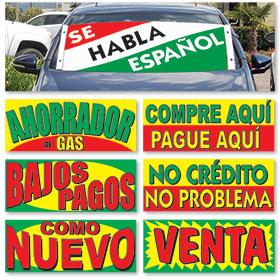 Spanish Frontline Windshield Banners