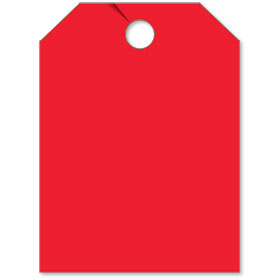 Blank Red Mirror Tag