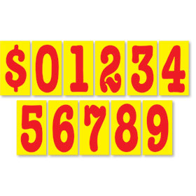 Red Hot 5 1/2 inch Pricing Numbers