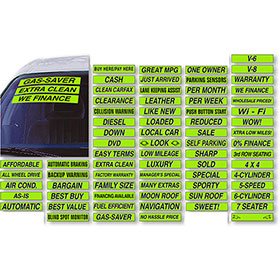 Black and Chartreuse Windshield Slogans