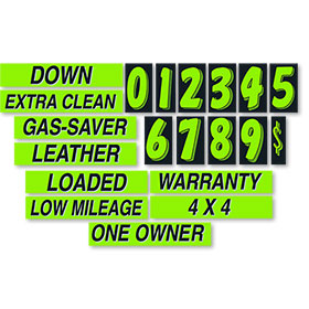 Chartreuse and Black Windshield Promotion Kit
