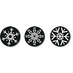 Snowflake Sticker with 3 Designs