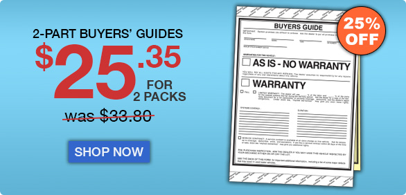 25% Off 2-Part Buyers' Guides. Buy 2 packs for $25.35.