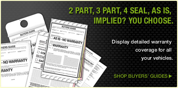 Buyers' Guides - Display detailed warranty coverage for all your vehicles.