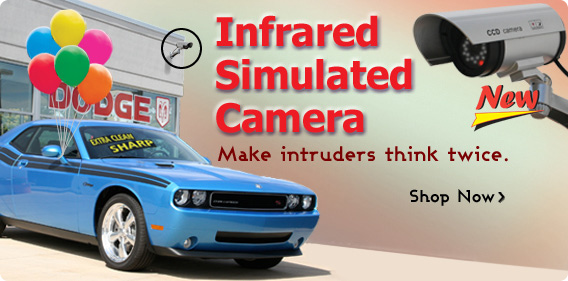 Stop intruders with the Infrared Simulated Security Camera!
