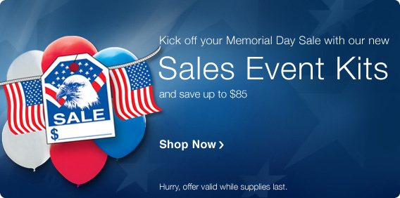 Kick off your Memorial Day Sale at your car dealership with our new Sales Event Kits!