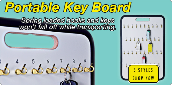 Keep vehicle keys organized and easily accessible with a Portable Keyboard.