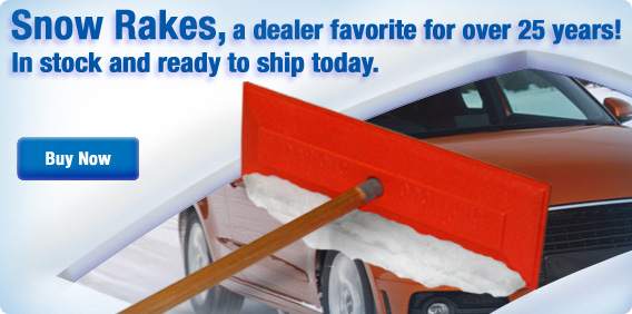 Keep your dealership's vehicles clean! Get your snow rake today!